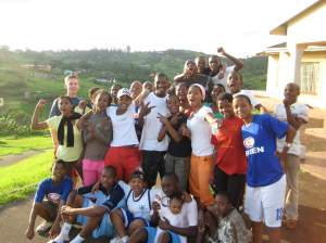 Andele back in 2009 with team Tiger after a LDP life skills session.