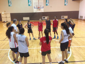 LDP get ready to demonstrate new drills for coaches.