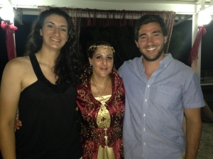 Steph, Jale, and Ryan at the Henna party!