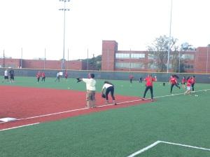 PPI-ME's LDP members practicing baseball drills at the Washington Nationals Youth Baseball Academy