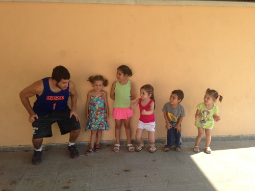 Coach Ryan coaching our youngest future leaders!