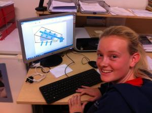16 years old Chantelle, designing the PPI-NI progression Wedge! She is the best person to work on this has been her path!