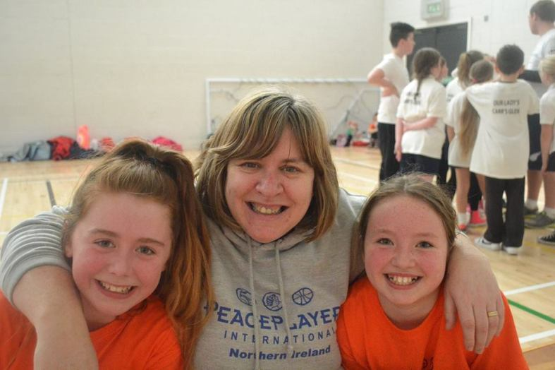 """Operation's Team Leader Debbie Byrne with two members from her winning team the """"Glendoyners"""""""