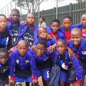 The NBA Africa team, from a community called Royal Bafokeng, located two hours NW of Johannesburg, came ready to play!