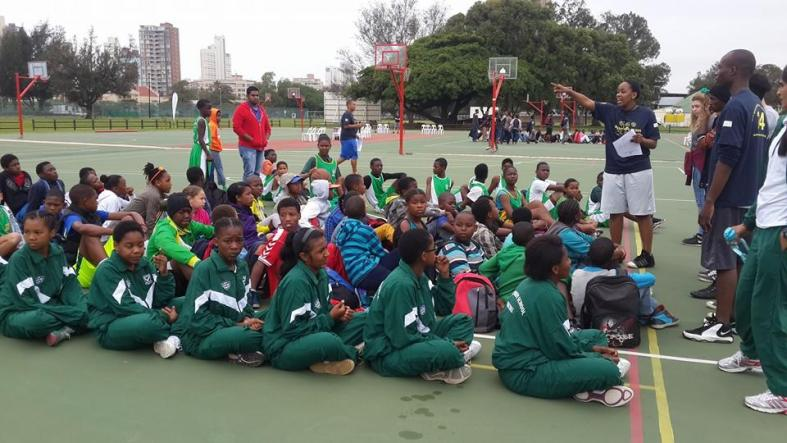 Teams wait eagerly to be set off to their given courts at the 24th City Wide Tournament!