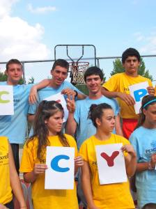 Cetin and Alexis at summer camp many years ago!