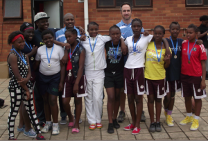 Gabby (back left) and 24th City Wide Champions Carrington Primary School Girls