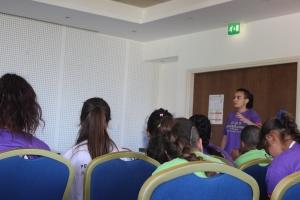 Alim presents at summer camp