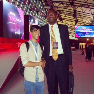 Dimitris NBA legend and humanitarian, Dikembe Mutumbo!