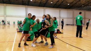 The participants love coach Nicos!! (center)