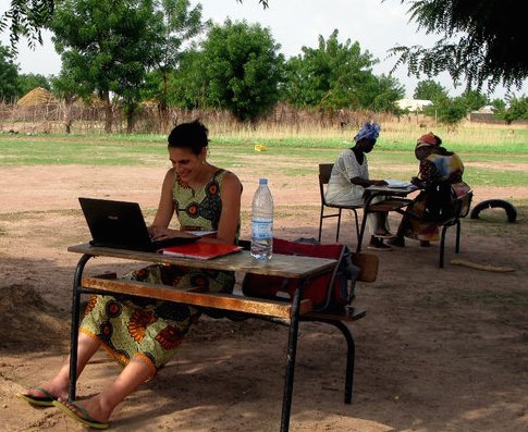 Julie in Senegal working on an evaluation for Tostan,  senegalese NGO focusing on human rights-based education.