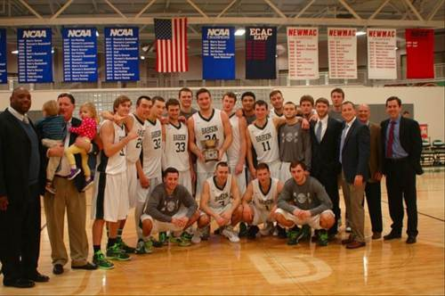 Babson's Men's Basketball Team