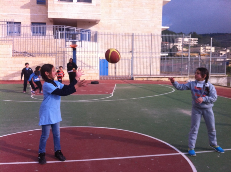 A team from Ein Rafa (Jerusalem) working together during their Peace Education session