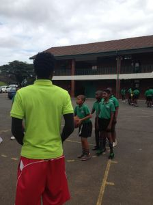 Coach Samkelo's first tryout at Glenmore Primary School was fun because of the kids' energy and support from PPI-SA coaches and the School's staff.