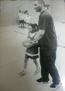 me and my father at the age of 5 he coached the first team i ever played for 1995