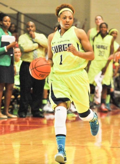 Bianca Beck plays point gaurd for the St Louis Surge, and is a monthly donor of PeacePlayers