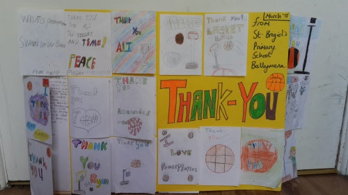 Thank you card from St Bridgid's Primary School.