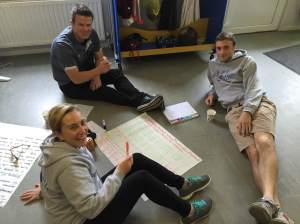Managing Director Gareth Harper with Casey Tyron (International Fellow) with Will Massey (PPI-NI volunteer) hard at work during the workshop.