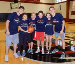 My friends from PPI-ME and my hometown come together for the basketball clinic I organized in New York.
