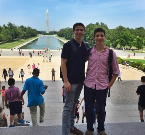 Jake and Reed on their adventure in DC.