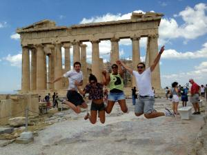 Jessica and friends at the Acropolis