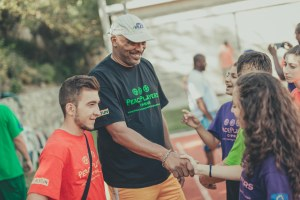 Former New Orleans Jazz star Aaron James promoting friendship at the 2015 PPI-CY Summer Camp