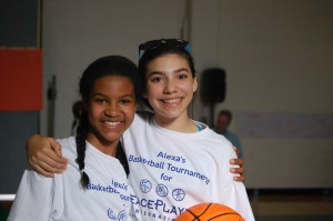 Alexa and a friend at her tournament.