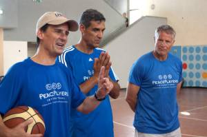 Missio Director of USAID West Bank/Gaza Dave Harden, Villanova Basketball Head Coach Jay Wright, and Philadelphia 76ers Head Coach Brett Brown
