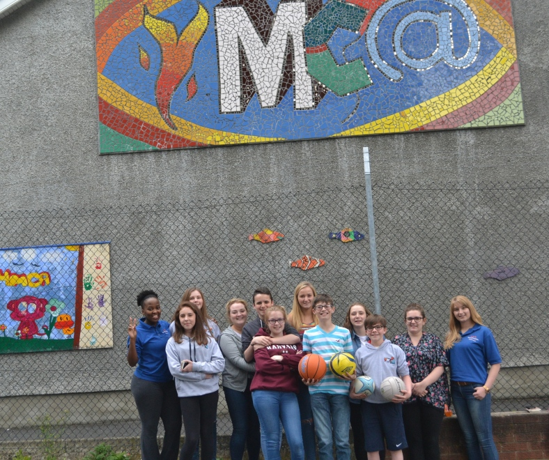 PPI-NI staff with a group from Lorne YMCA