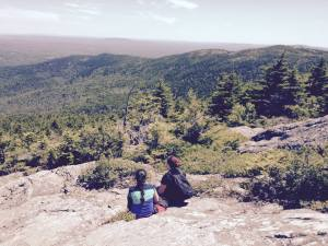Eleni and CFP participant after a beautiful hike in New Hampshire