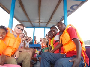 The GYC group went on an island tour in Lake Kivu