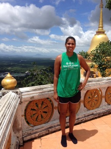 The view from the top of Tiger Temple (1400 steps to the top)