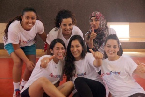 Members of PPI - Middle East who traveled to Washington, DC last October with the first SportsUnited Exchange