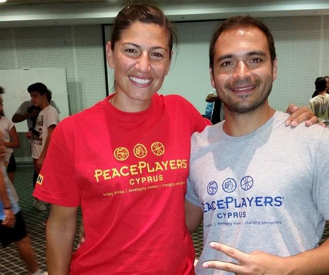 Coach Nicos with Camp VIP, Sebnem Kimyacıoğlu