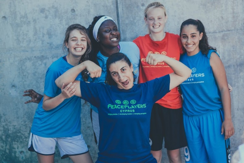 Israel, South Africa, Northern Ireland, and Cyprus participants have fun after a practice
