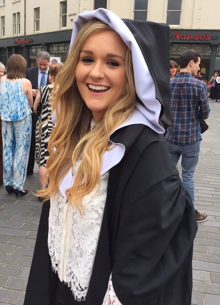 Graduating from the University of Edinburgh, July 2015