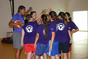 International Fellow, Jessica coaching at Camp 2015.