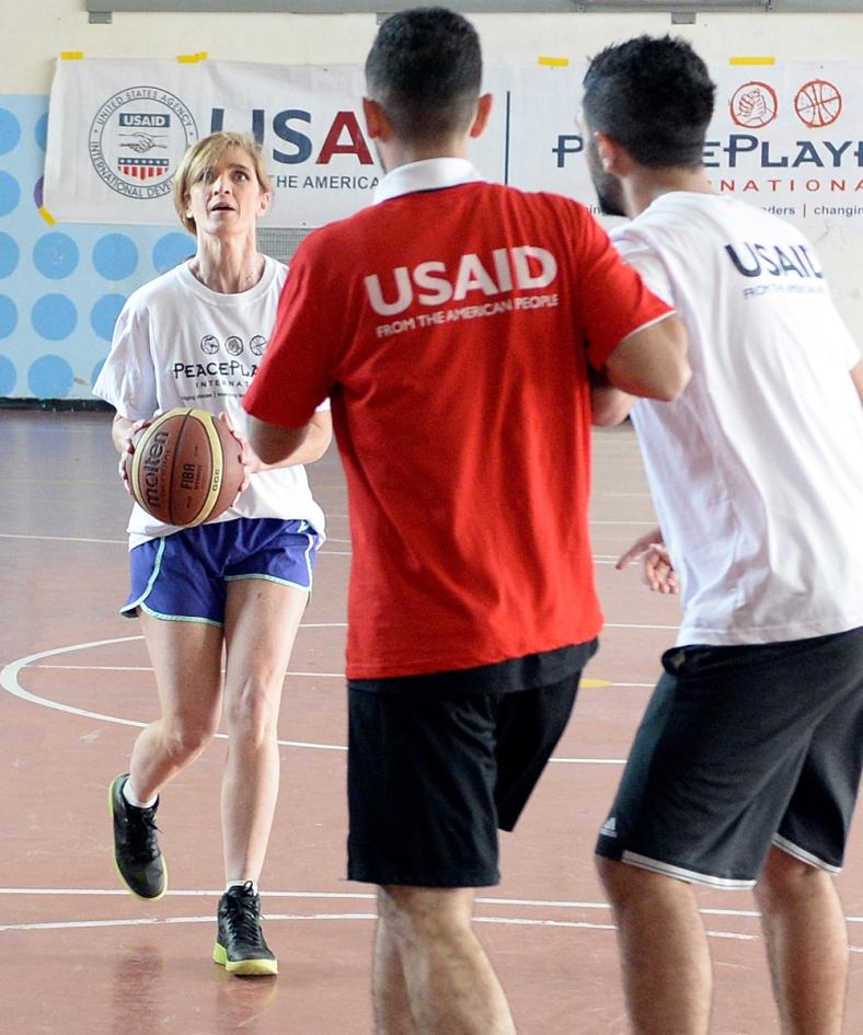 Ambassador Samantha Power Tours Jerusalem Hand in Hand Bilingual
