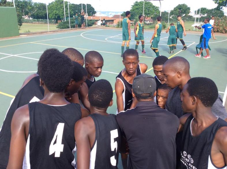 PPI-SA Champions of Peace Team huddling up for a team talk.