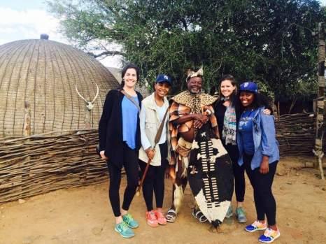 Lisa and the PPI-SA girls at Shakaland.