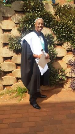 Coach Yam at his graduation.