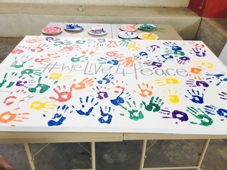 The #WeLIV4Peace Canvas
