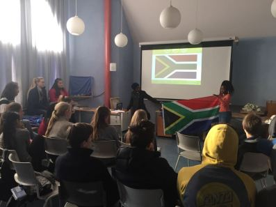 PPI-SA participants making their presentation about South Africa.